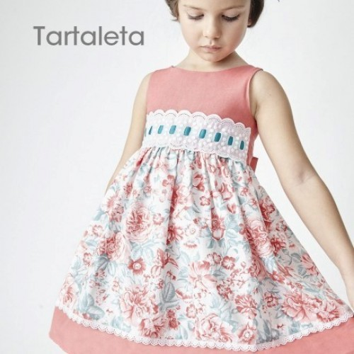 Coral Floral Dress (Sleeveless)