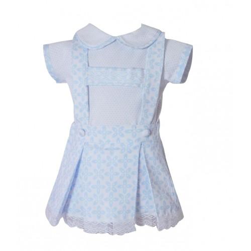 Baby Blue T Bar Dress & Blouse