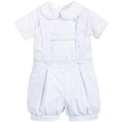 Pretty Originals White peter pan coller blouse & t bar shorts set