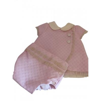Pretty Originals pink/cream peter pan coller top & knickers