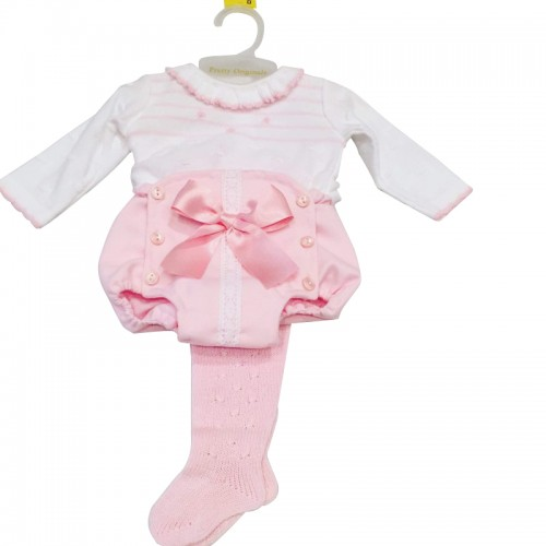 Baby Knitted Top & Jam Pant & Tights Set