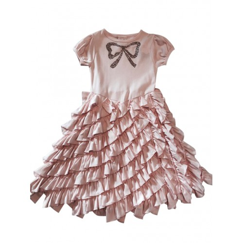 Pink, Ruffle Bow Dress