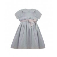 Pretty Originals Pink & Grey Bow Dress