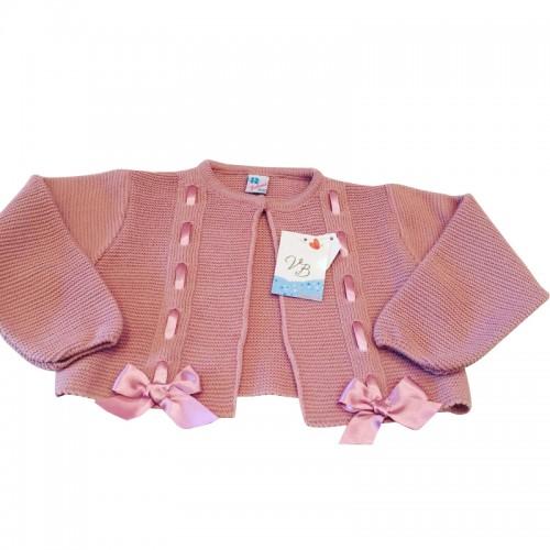 Vintage Pink Bow Cardigan