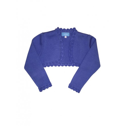 Blue Bolero Knitted Cardigan