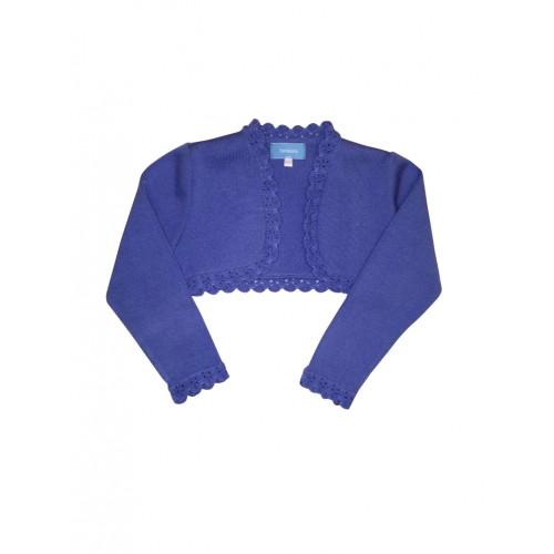 Blue Bolero Knitted Cardigan