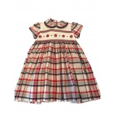 Pretty Originals Red Checkered Smoked Dress