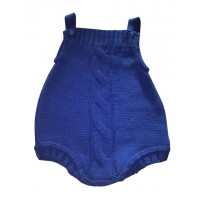 Royal Blue knitted cable front dungrees