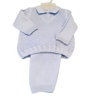 Boys Knit Tank Top  & Trouser Set