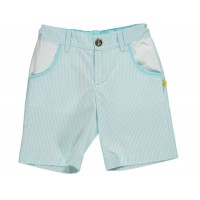 Aqua/white Pin Stripped Shorts