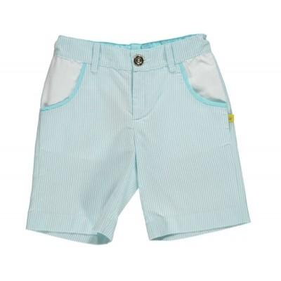 Aqua/white Pin Stripped Shorts