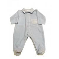 MNH Baby Blue Velour, Babygrow