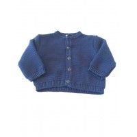 Boys Navy Blue Knit Cardigan