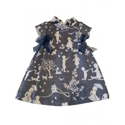 Blue Print Spanish Dress