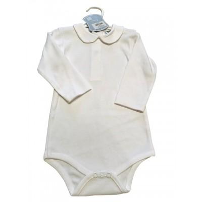 White peter pan collar bodysuit