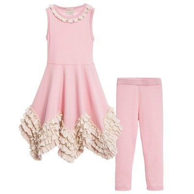 LEMON LOVES LIME PINK RUFFLE TOP & LEGGINS