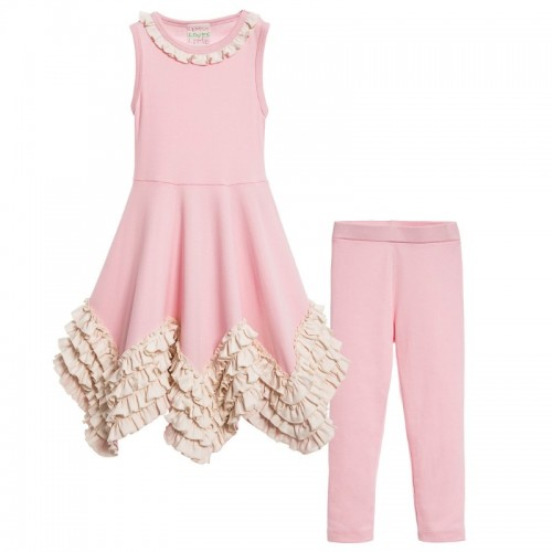 Pink Ruffle Top & Leggins