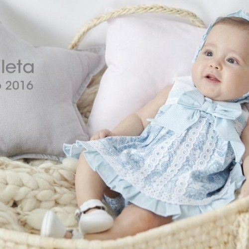 Baby Girls Dress Set with Matching Bonnet