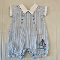 BLUE/WHITE BOAT ROMPER