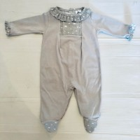 Grey Cloud Print Babygrow