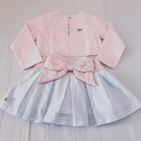 Bow Skirt & Jacket Set