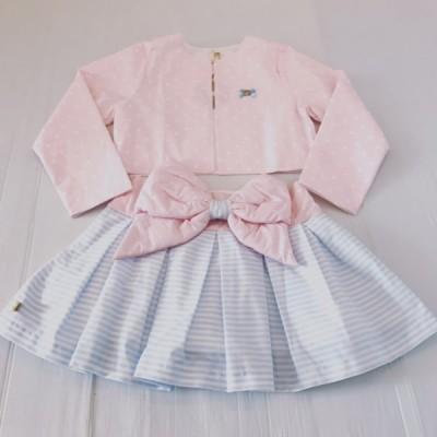 CHUA  Bow Skirt & Jacket Set