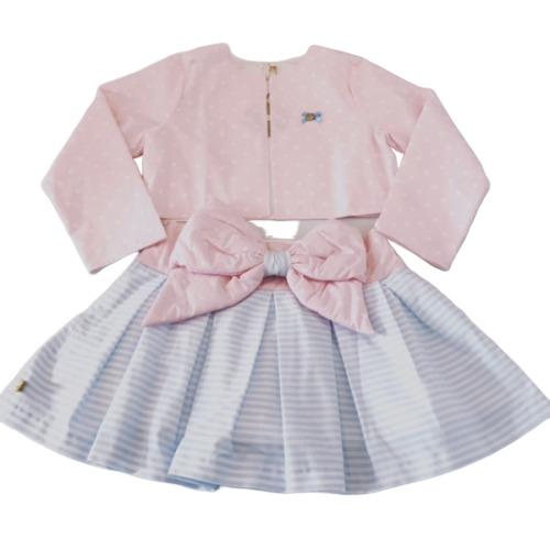 Bow Skirt & Jacket Set