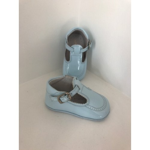 Baby Blue Patent T Bar Shoes