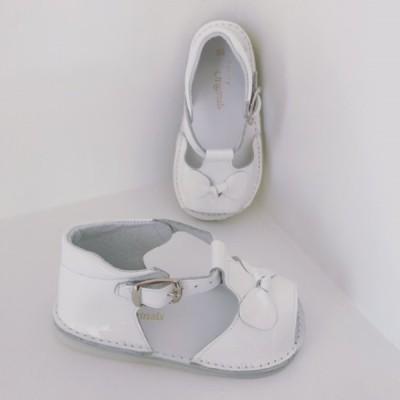 White Patent Sandles