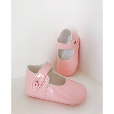 Pink Baby Girls Patent Shoes