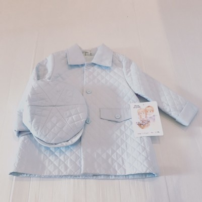 Boys Quilted Coat & Matching Flat Cap