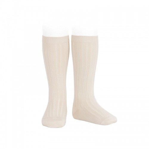 Boys Ribbed Socks In Stone