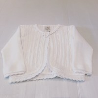 PRETTY ORIGIANLS White Girls Flower Cardigan