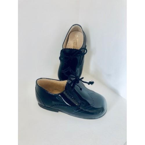 Boys Navy Patent Shoe
