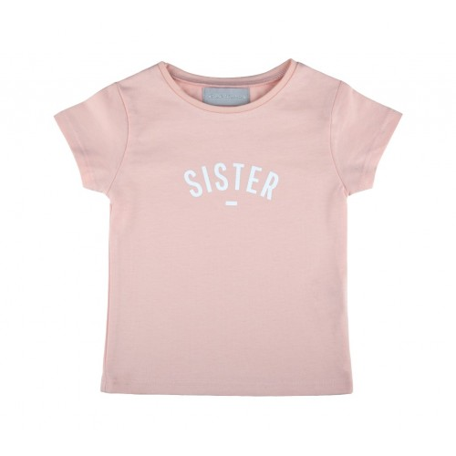 Blush 'SISTER' Cap-Sleeved T-Shirt