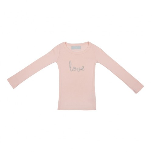 Marshmallow 'Love' Silver Print Kids T Shirt