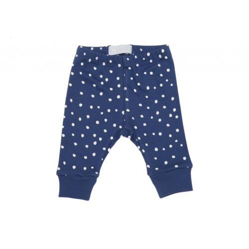 Midnight Blue and White Spot Print Leggings