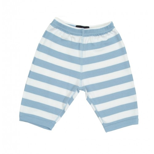 Sky Blue & White Striped Trouser