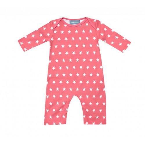 Flamingo Pink & White Star All-in-One
