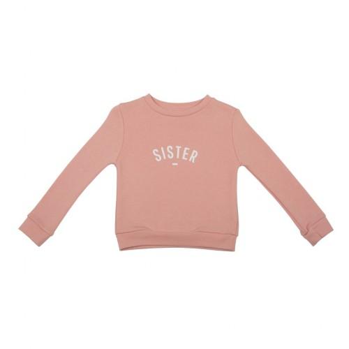 Blush Pink 'Sister' Sweatshirt