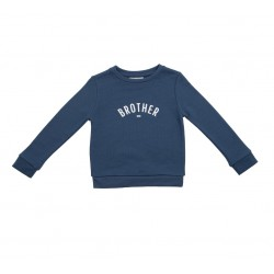 Denim Blue 'Brother' Sweatshirt