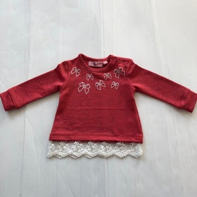 Baby Girls Rust Lace Top