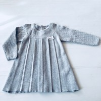 TUTTO PICCOLO GREY KNIT DRESS