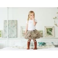 Bob & Blossom Tutu Skirt - Coffee