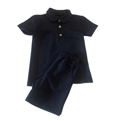 NEW IN! BOYS NAVY SHORTS JERSEY SHORTS SET