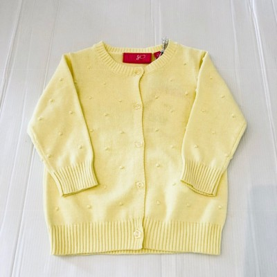 Girls Lemon Knit Cardigan
