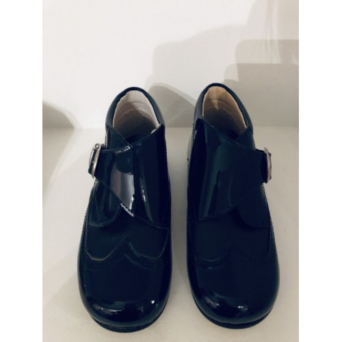 Boys Patent Ankle Boots