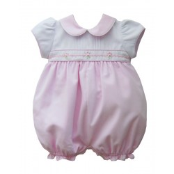 Girls Pale Pink Romper & Matching Head band