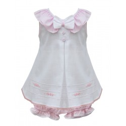 Girls White Dress Set With Matching Head Band