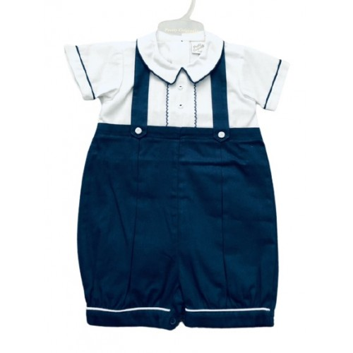 BOYS NAVY SHORTS SET